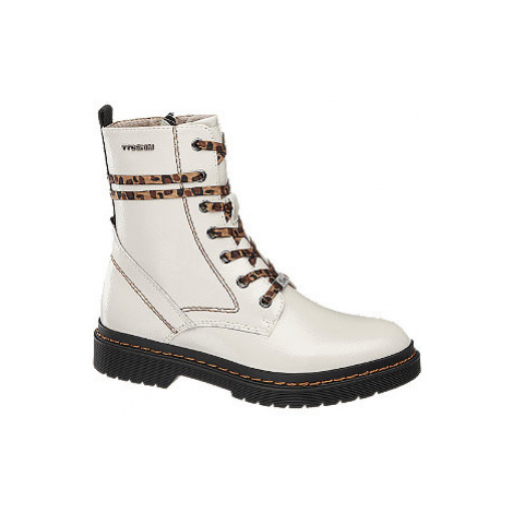 Bílá šněrovací obuv se zipem Tom Tailor