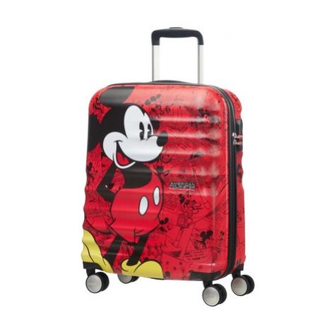 AT Dětský kufr Wavebreaker Disney Spinner 55/20 Cabin Mickey Comics Red, 40 x 20 x 55 (85667/697 American Tourister