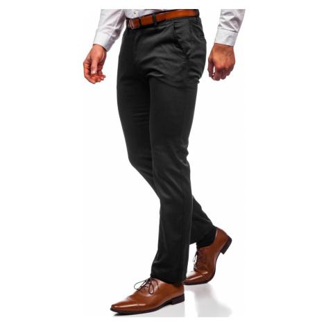Černé pánské chino kalhoty Bolf KA1786P