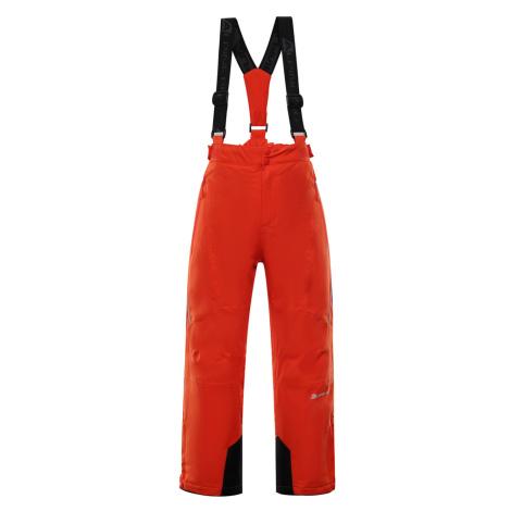 ALPINE PRO ANIKO 3 Dětské lyžařské kalhoty KPAP168344 cherry tomato
