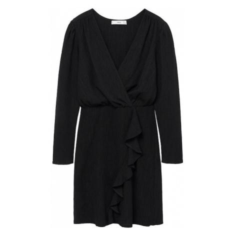 MANGO Šaty 'Real' černá