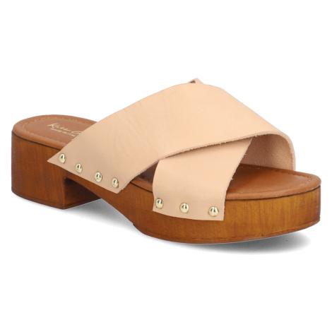 Kate Gray hladká kůže pantofle
