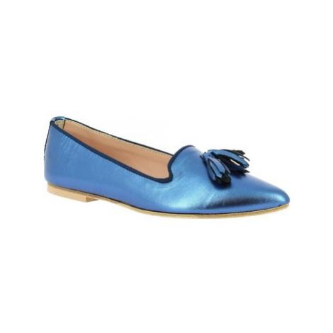 Leonardo Shoes 117/20 LAMIN. BLUETTE Modrá