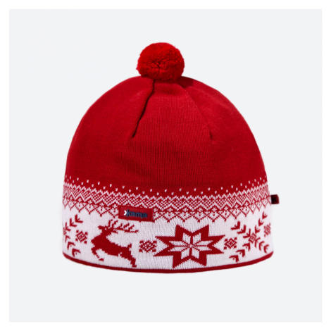 Kama AW 01-104 pletená merino čepice červená