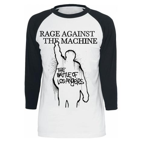 Rage Against The Machine Album Cover Tričko s dlouhým rukávem bílá/cerná