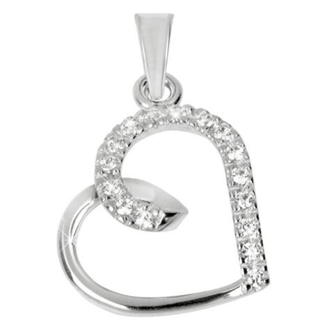 Brilio Zlatý přívěsek srdce s krystaly 249 001 00451 07