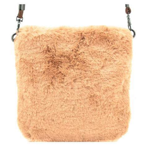 Dámská kabelka crossbody Herisson / s umělé kožešiny - béžová