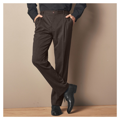 Blancheporte Kalhoty s podílem vlny, pružný pas oříšková