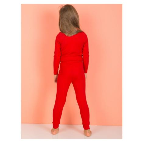 Red leggings for girls Fashionhunters