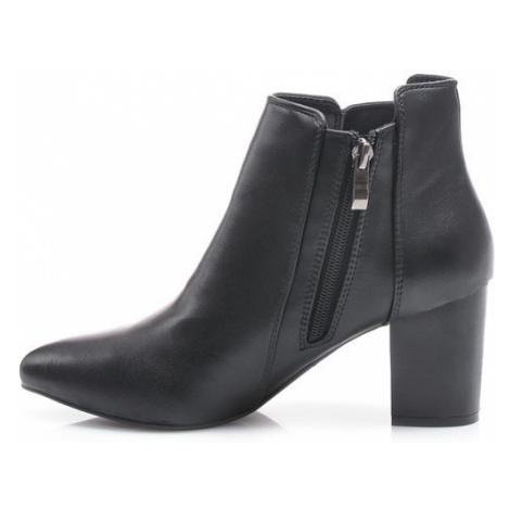 Podzimní černé kotníkové boty