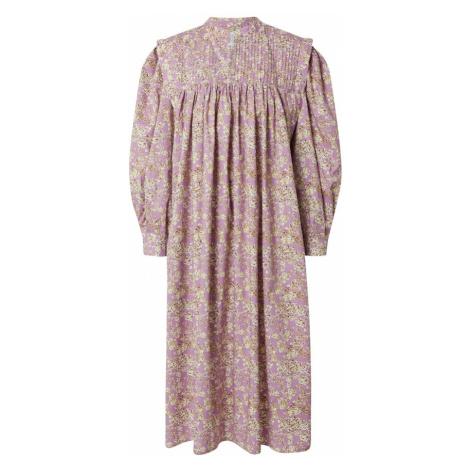Line of Oslo Košilové šaty 'Laura' fialová / bílá / černá / hnědá