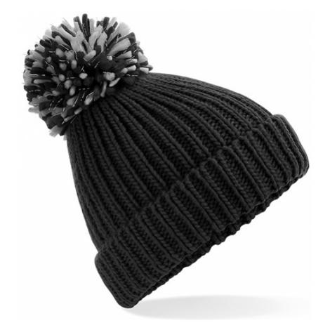Zimní čepice Pom Pom - černá Beechfield