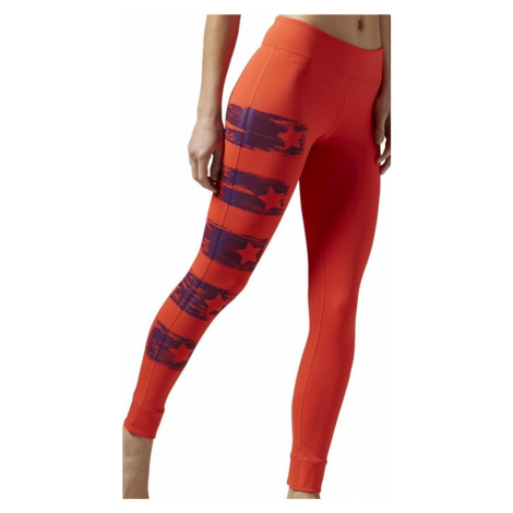 Legíny Reebok Yoga Painted Tight laser red