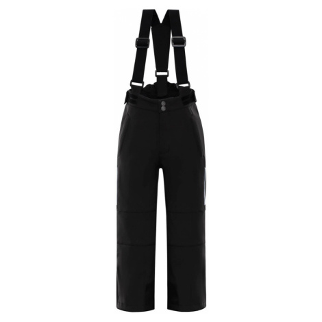 ALPINE PRO NEXO Dětské lyžařské kalhoty KPAM055990 černá