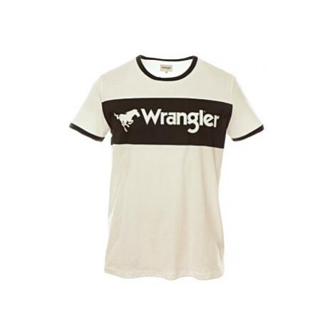 Triko Wrangler Logo Ringer pánské bílé