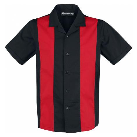 Doomsday Bowlingová košile Košile cerná/cervená