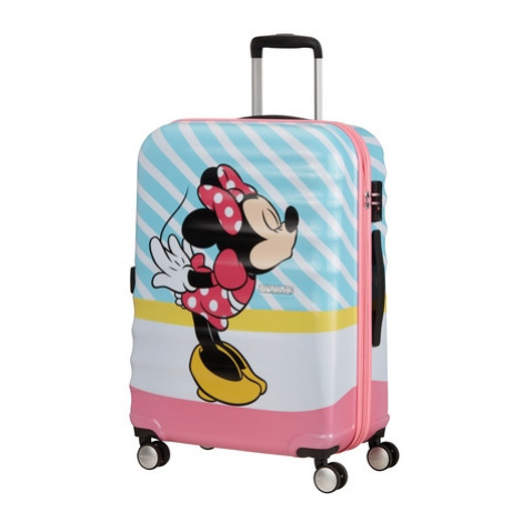 AT Dětský kufr Wavebreaker Disney Spinner 67/26 Minnie Pink Kiss, 47 x 26 x 67 (85670/8623) American Tourister