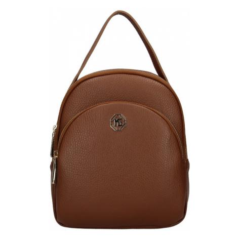 Dámský kožený batoh Marina Galanti Paole - hnědá