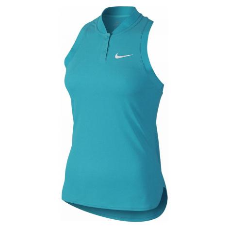 Dámské tílko NikeCourt Premier Advantage Slam Světle modrá / Bílá