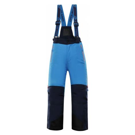 ALPINE PRO NUDDO 4 Dětské lyžařské kalhoty KPAP167674 Blue aster