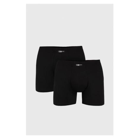 2 PACK černých boxerek Uomo Home Cotonella