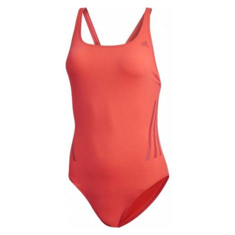 adidas PRO SUIT 3S červená - Dámské sportovní plavky