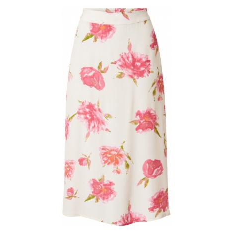 PIECES Sukně 'TIANNA' přírodní bílá / pink / světle růžová / zelená