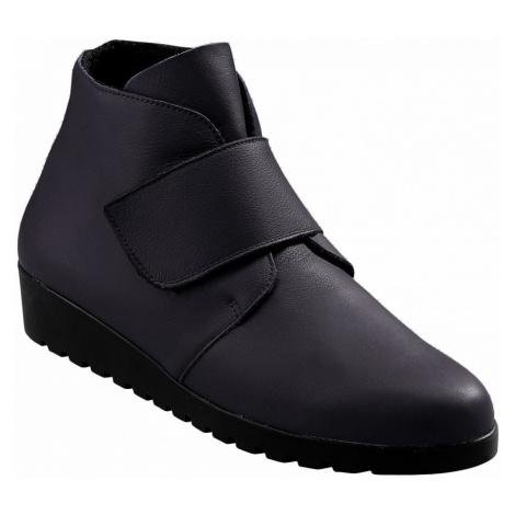 Kotníčkové boty na suchý zip černá