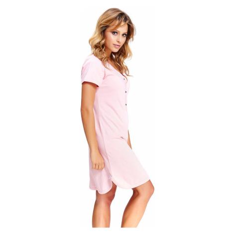 Světle růžová těhotenská noční košile TCB9505 Doctor Nap