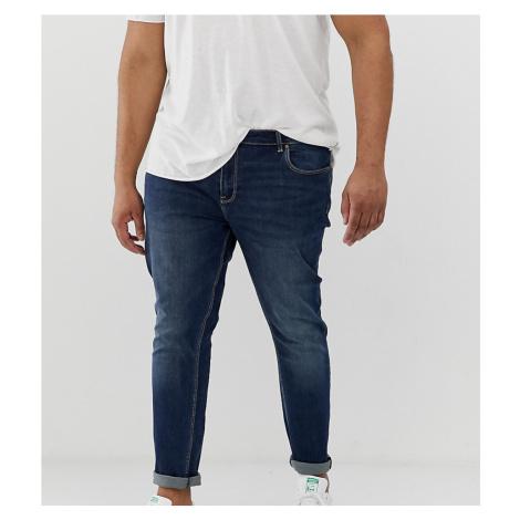 ASOS DESIGN Plus skinny jeans in dark wash-Blue