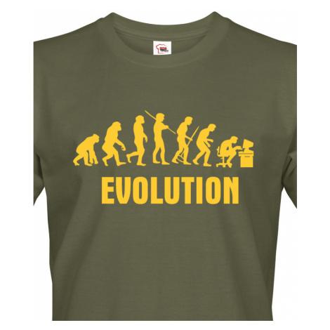 Pánské tričko Evoluce IT - ideální dárek pro všechny Ajťáky BezvaTriko