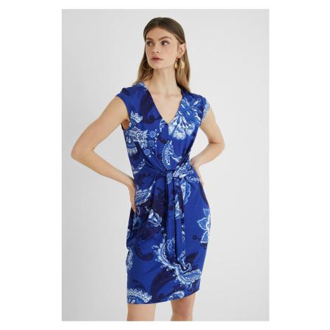 Desigual modré šaty Vest Sibila