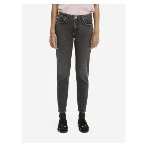 Tmavě šedé dámské zkrácené straight fit džíny džíny Scotch & Soda