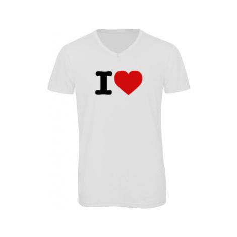 Pánské triko s výstřihem do V I love