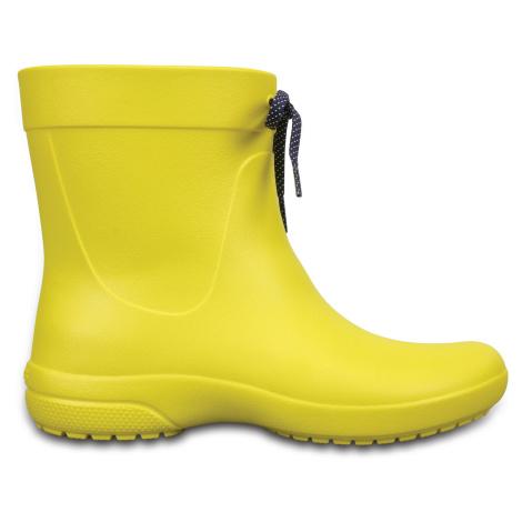 Crocs Crocs Freesail Shorty RainBoot - Lemon W7