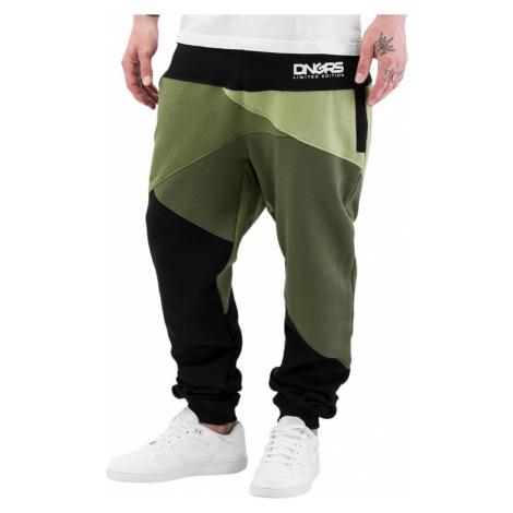 Dangerous DNGRS kalhoty pánské Locotay Sweatpants Olive/Black tepláky