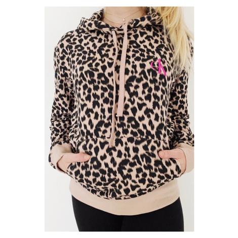 Calvin Klein CK ONE mikina dámská - leopardí