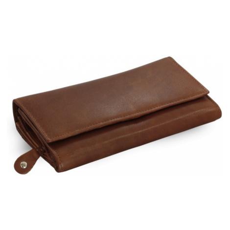 Tmavě hnědá dámská psaníčková kožená peněženka Imogen Arwel