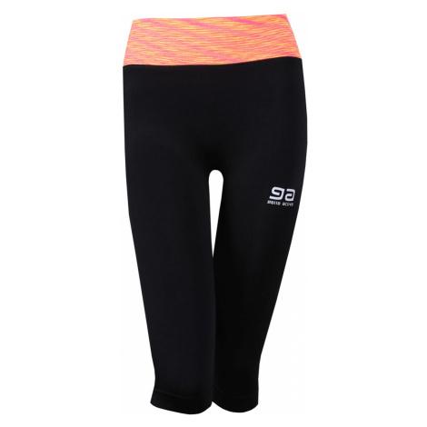 Černo-oranžové tříčtvrteční legíny Gatta Fitness Leggings