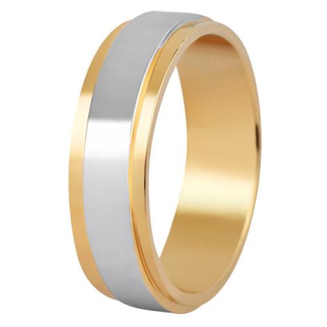 Beneto Pánský bicolor snubní prsten z oceli SPP05