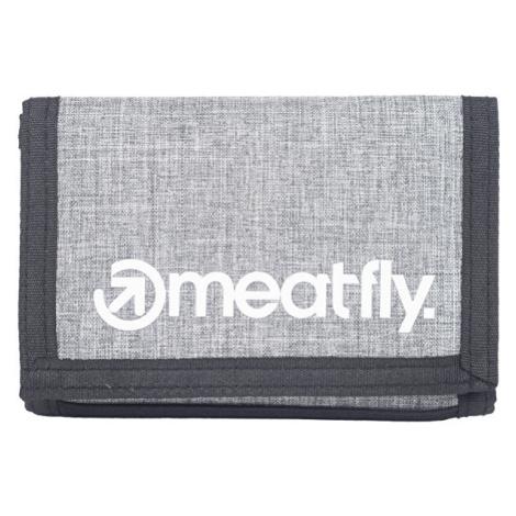 Meatfly Pánská peněženka Huey B-Heather Grey, Grey