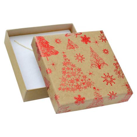 JKBOX Vánoční krabička s mašlí na střední sadu šperků | IK023