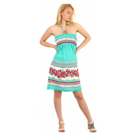 Dámské puntíkované midi letní šaty