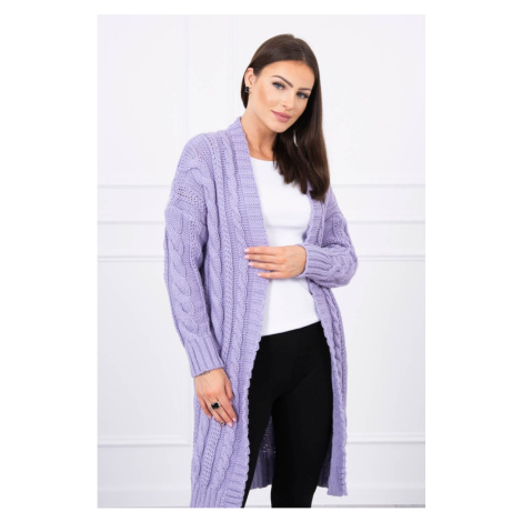 Sweater Cardigan with braid weave purple Kesi