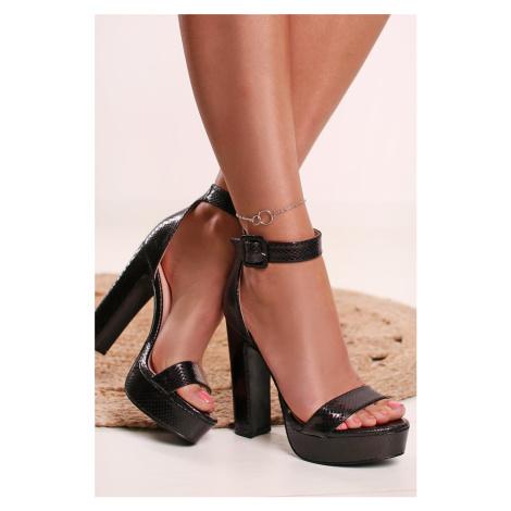 Černé sandály Nathalie Ideal