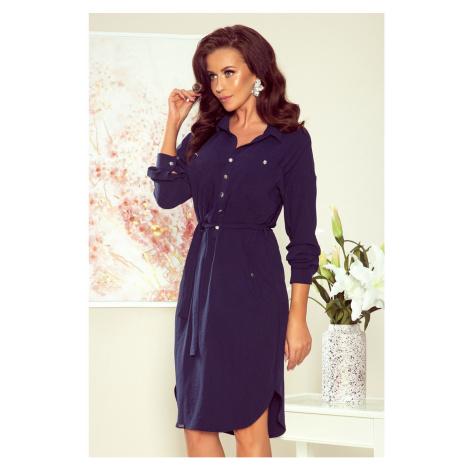 NUMOCO Woman's Dress 258-3 Navy Blue