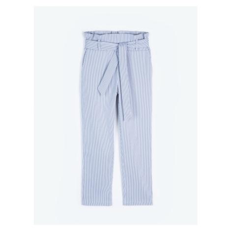 GATE Proužkované kalhoty slim fit