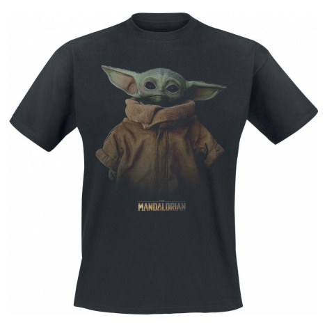 Star Wars The Mandalorian - The Child - Grogu Tričko černá