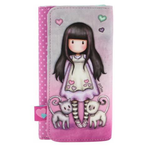 Santoro růžová peněženka Gorjuss Tall Tails Santoro London