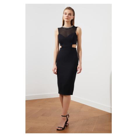 Trendyol Black Tulle Detailed Dress